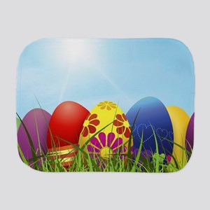 easter eggs Burp Cloth