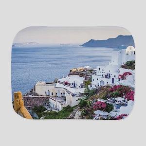 Santorini Greece Burp Cloth