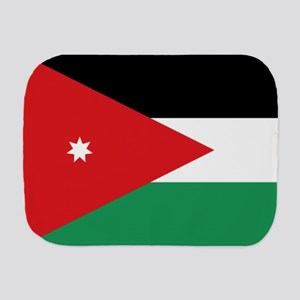 Flag of Jordan Burp Cloth