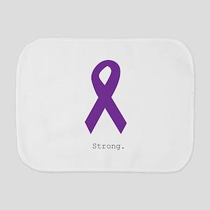 Strong. Purple Ribbon Burp Cloth