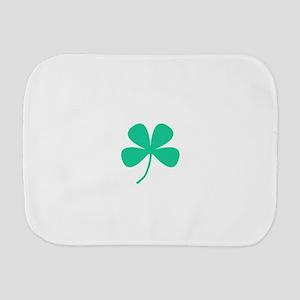 Green Irish Pride Shamrock Rocker Burp Cloth