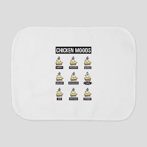 Chicken Moods Burp Cloth