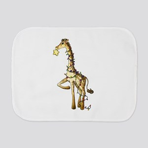 Shiny Giraffe Burp Cloth