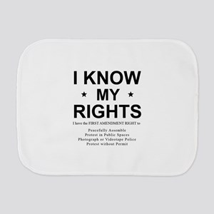 I KNOW MY RIGHTS BL Burp Cloth