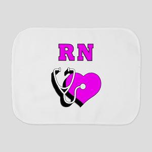 RN Nurses Care Burp Cloth