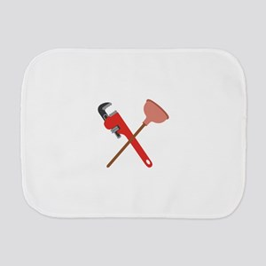 Pipe Wrench Toilet Plunger Burp Cloth