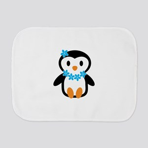 Luau penguin Burp Cloth