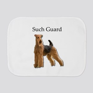 Airedale On Guard - Determined to Prote Burp Cloth