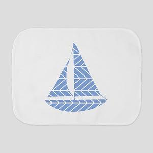 Chevron Sailboat Burp Cloth