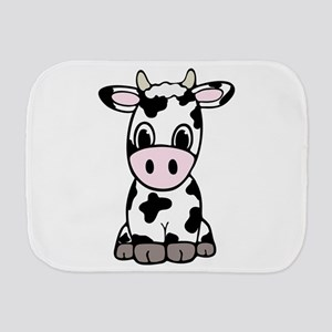 Cute Cartoon Cow Burp Cloth