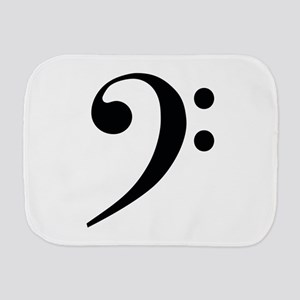 Bass Clef in Gold Burp Cloth