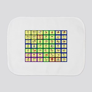 7 by 7 Core Word Communication Board - AAC Burp Cl