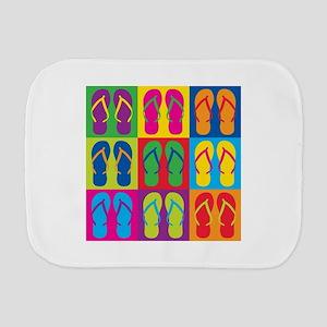 Pop Art Flip Flops Burp Cloth