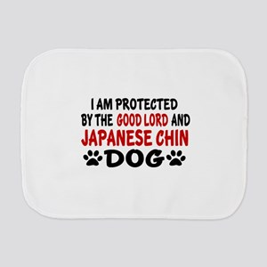 Protected By Japanese chin Burp Cloth