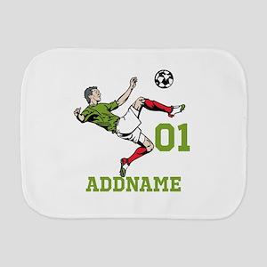 Customizable Soccer Burp Cloth