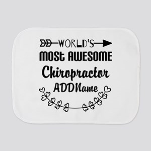 Personalized Worlds Most Awesome Chirop Burp Cloth