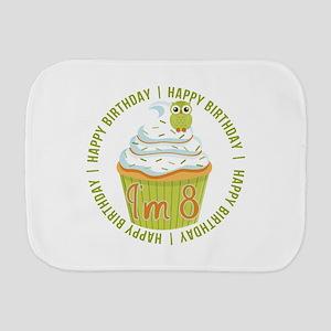 8th Birthday Cupcake Burp Cloth