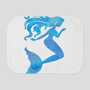 Watercolor Mermaid Burp Cloth