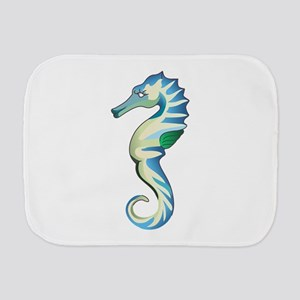 Sea Horse Burp Cloth