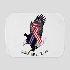 Disabled Veteran Eagle and Ribbon Burp Cloth