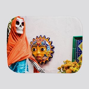 Day of the Dead Altar with Skeleton Lad Burp Cloth