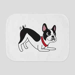 Happy Boston Terrier Burp Cloth