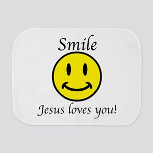 Smile Jesus Burp Cloth