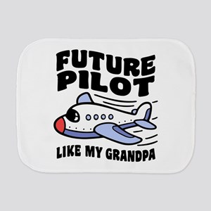 Future Pilot Like My Grandpa Burp Cloth