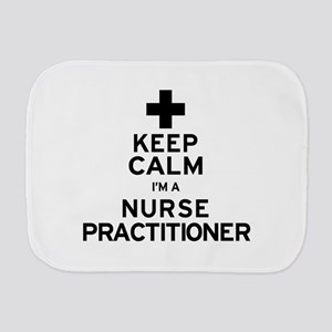 Keep Calm Nurse Practitioner Burp Cloth