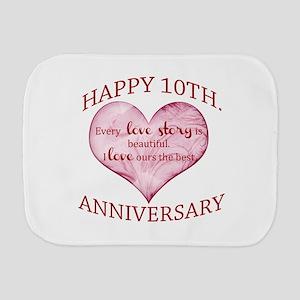 10th. Anniversary Burp Cloth
