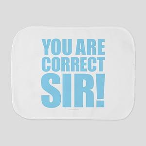 Correct Sir Burp Cloth