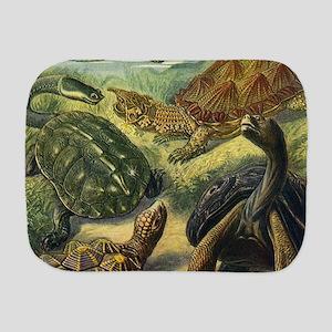 Vintage Turtles and Tortoises Burp Cloth