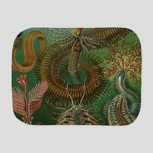 Vintage Segmented Worms, Chaetopoda Burp Cloth