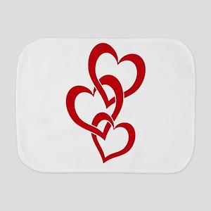3 Hearts Burp Cloth