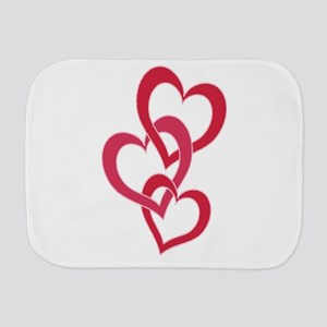 3 Hearts 2 Burp Cloth