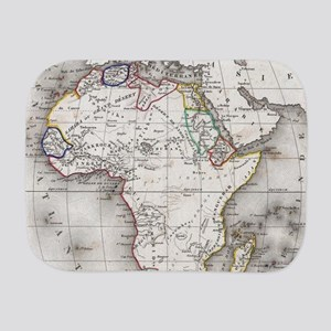 Vintage Map of Africa (1852) Burp Cloth