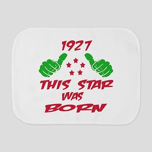1927 This star was born Burp Cloth