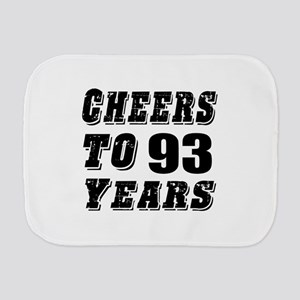 Cheers To 93 Burp Cloth