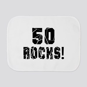 50 Rocks Birthday Designs Burp Cloth