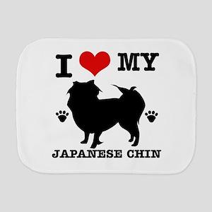 I Love My Japanese Chin Burp Cloth
