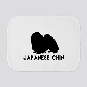Japanese chin Dog Designs Burp Cloth