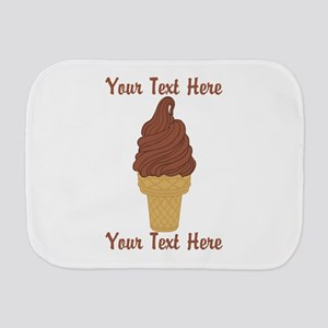 Personalized Chocolate Ice Cream Burp Cloth