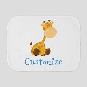 Custom Baby Giraffe Burp Cloth