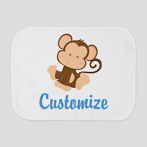 Custom Monkey Burp Cloth