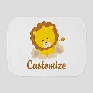 Custom Baby Lion Burp Cloth