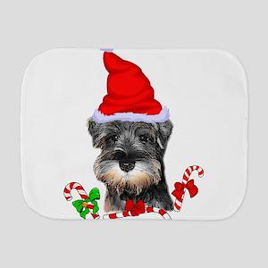 Miniature Schnauzer Christmas Burp Cloth