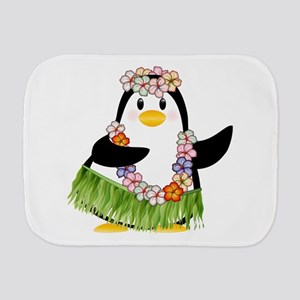 Tropical Penguin Burp Cloth
