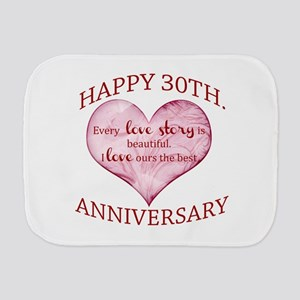 30th. Anniversary Burp Cloth
