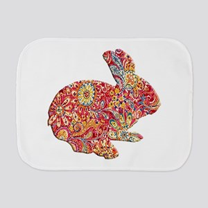 Colorful Floral Easter Bunny Burp Cloth