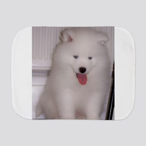 puppy samoyed Burp Cloth